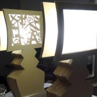 """Luminaire en carton """"Phosphographix"""", lampe à poser"""