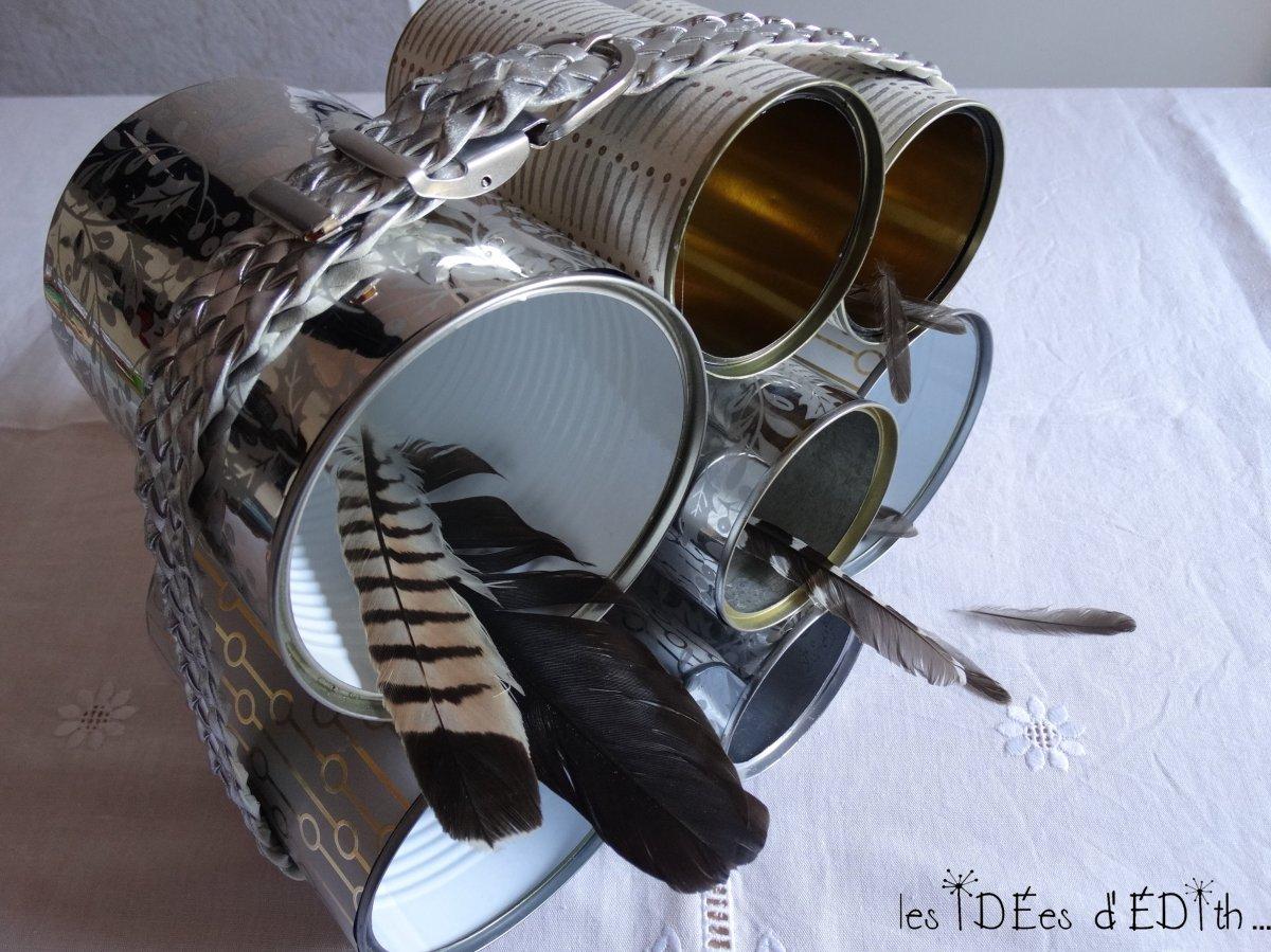 Journée Internationale du recyclage : un rangement DIY avec des boîtes de conserve...